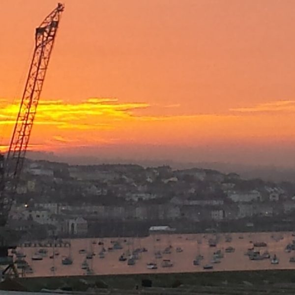 Sunset over Falmouth